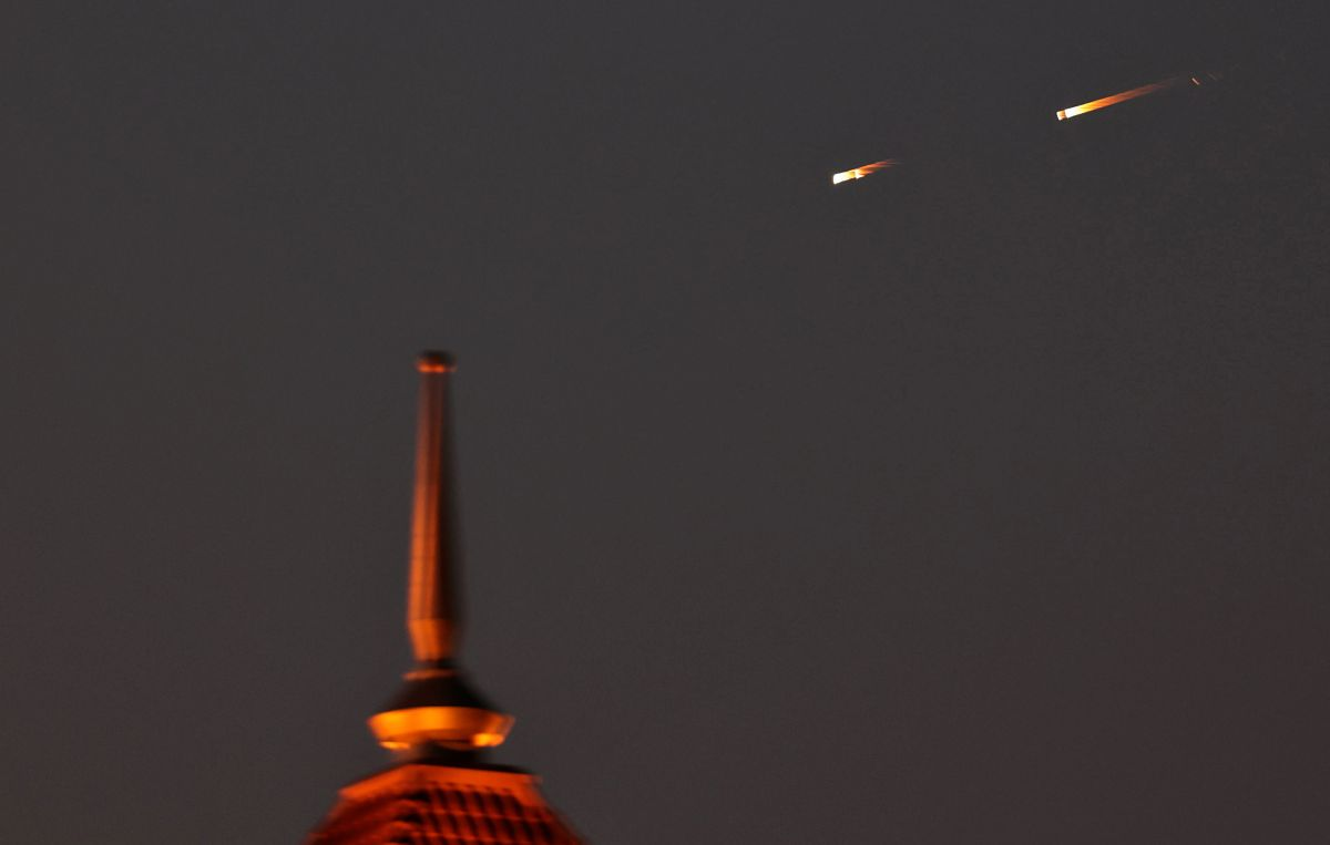 Las impactantes imágenes del meteorito que iluminó la noche de Florida