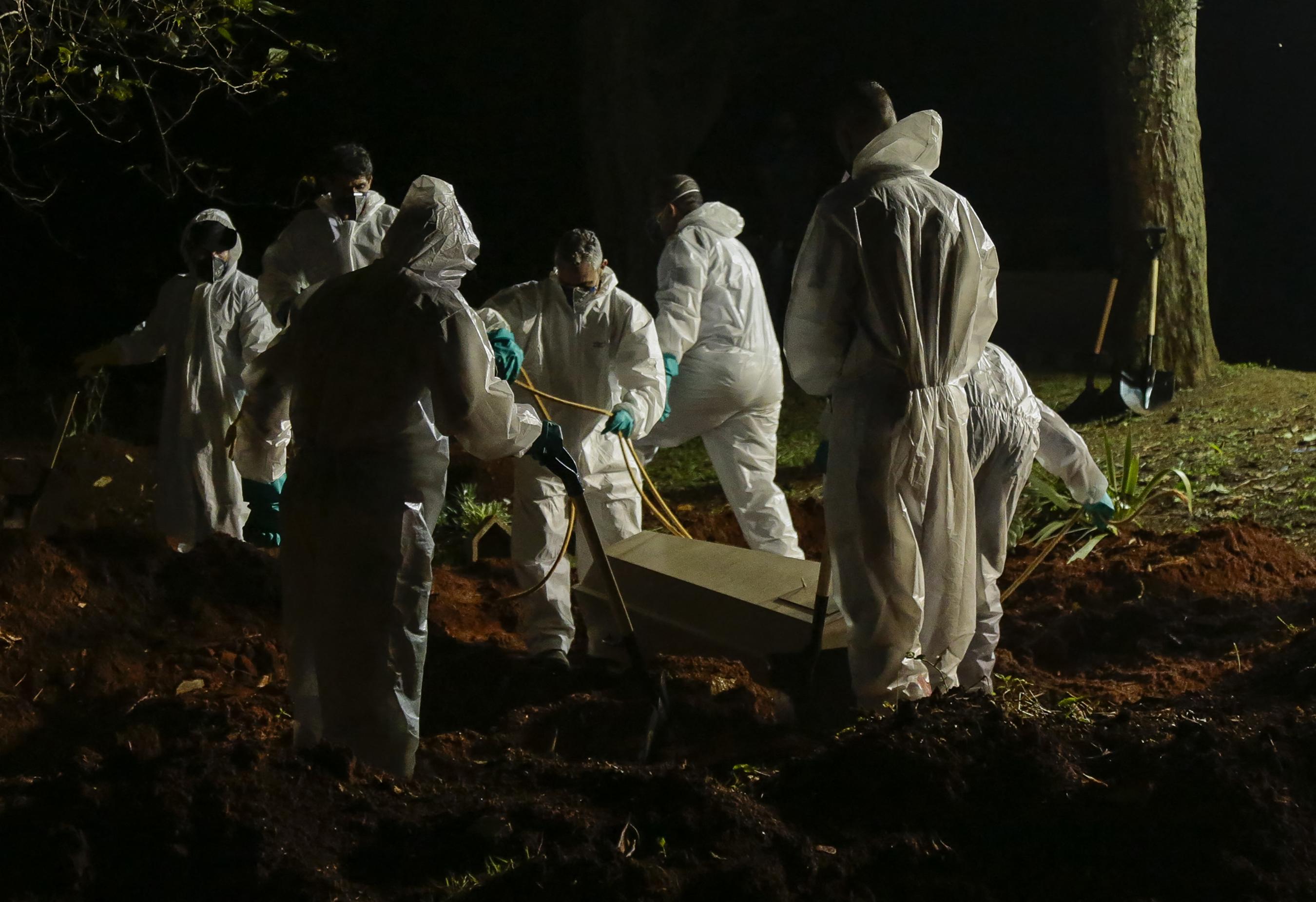 Entierros coronavirus Brasil