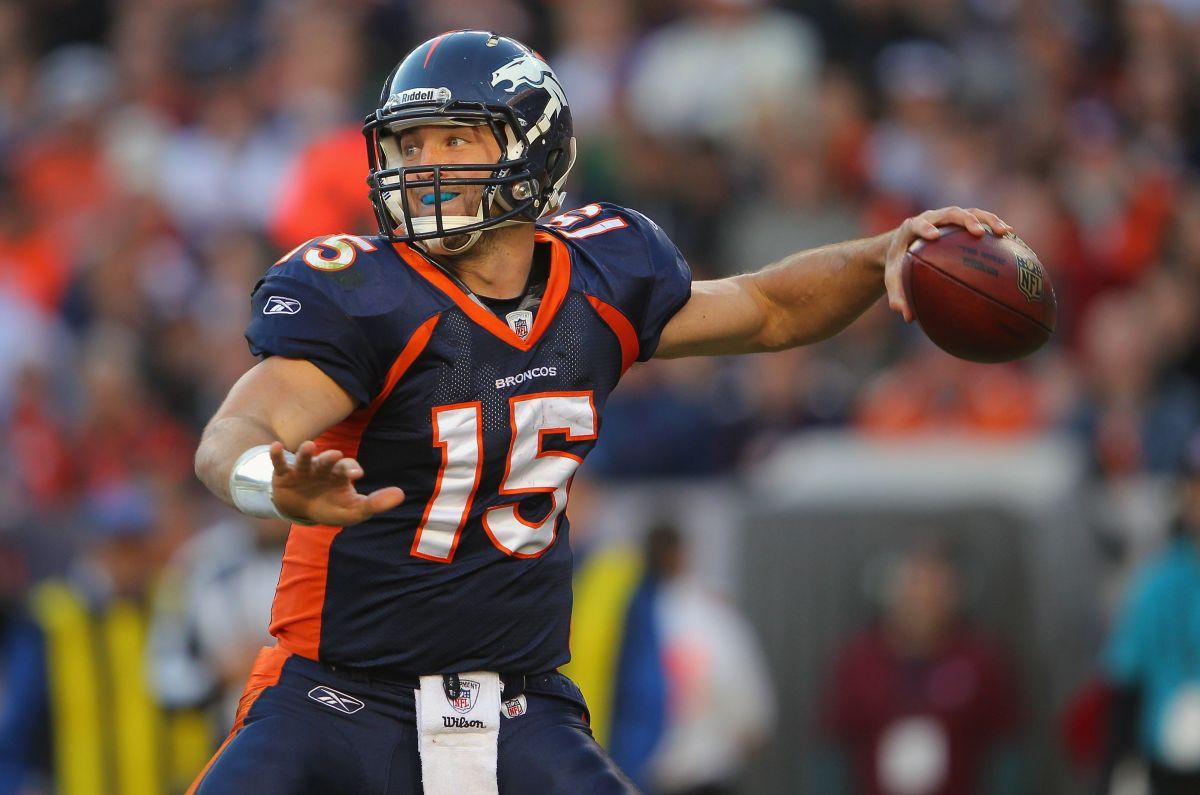 Tebow jugó por última vez en la NFL en 2012.