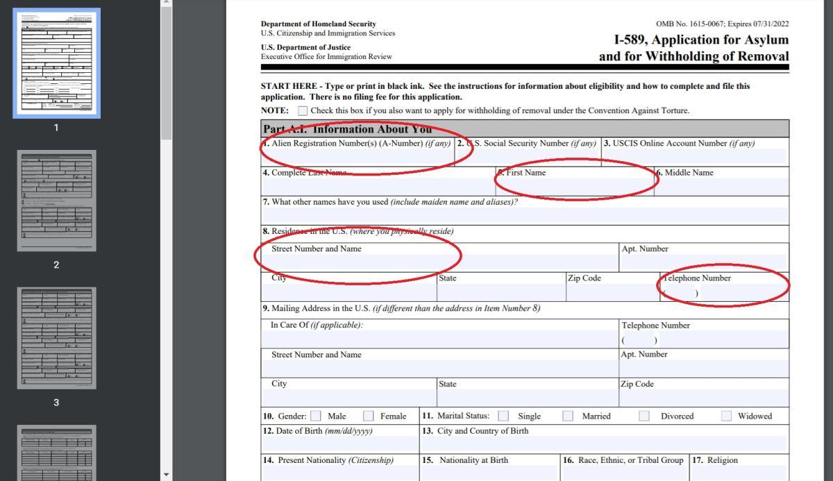 Recuerde revisar bien su formulario antes de enviarlo a USCIS.