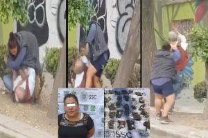 VIDEO: Era mujer narco, la desalmada que golpeó brutalmente a abuelito