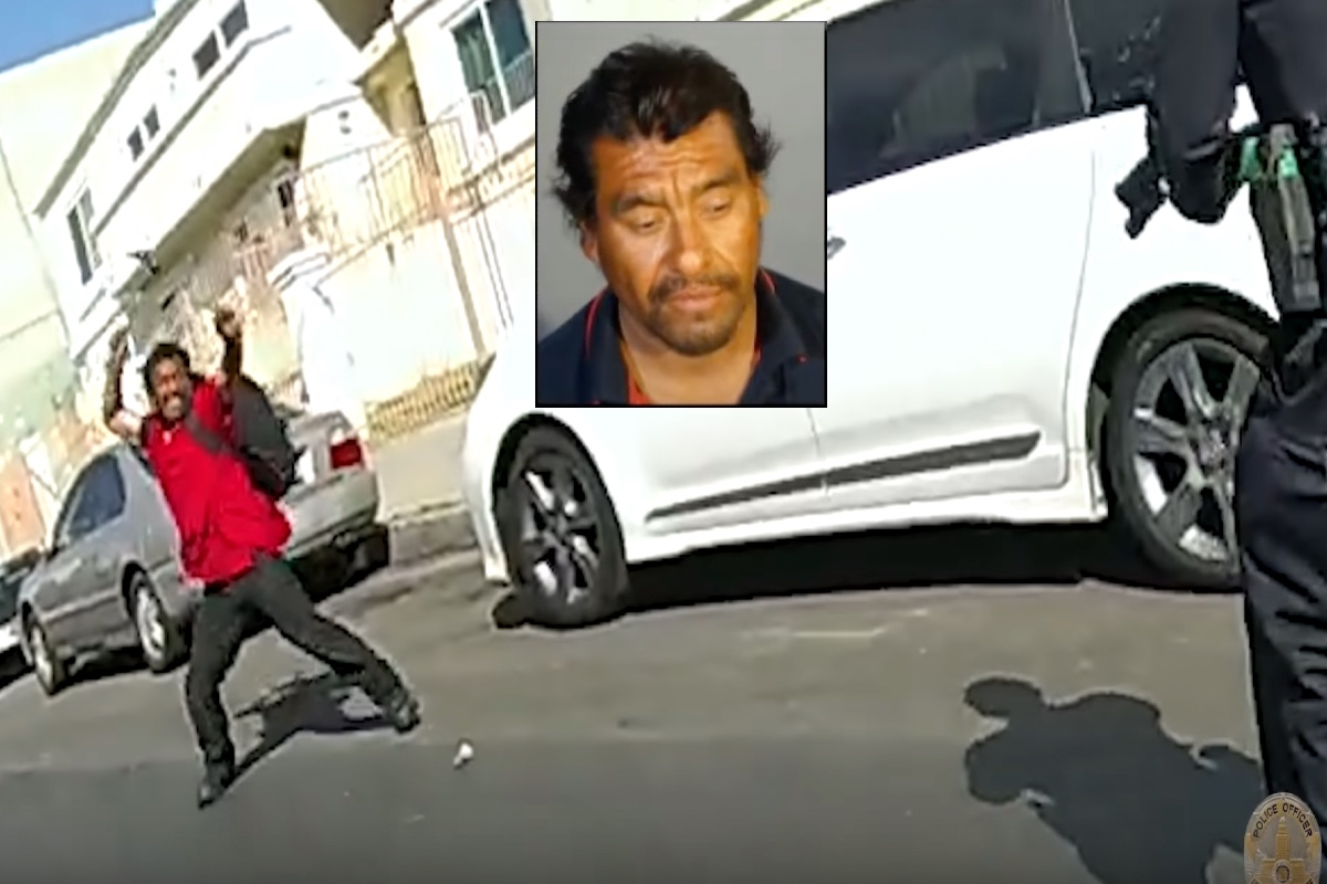 "VIDEO: Hispano lanza martillo a policías y lo abaten; ""Padre celestial, ayúdame"", dijo antes del tiroteo"