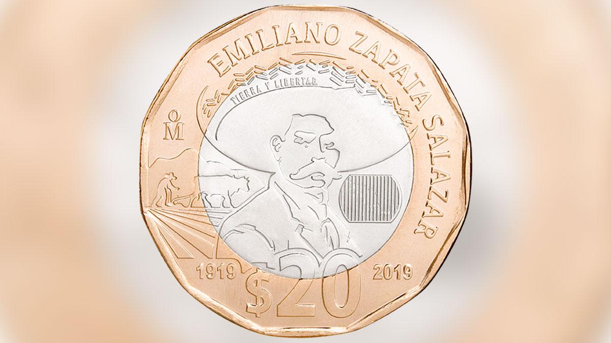 México pone en circulación moneda de $20 pesos por el centenario de la muerte de Emiliano Zapata
