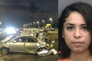 Una hispana chocó ebria a 111 mph y mató a uno de sus amigos; estaba libre bajo fianza por otro accidente fatal