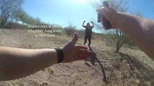 Un policía hispano fue atacado en el desierto de Arizona con dos bayonetas