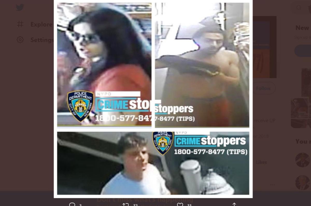NYPD busca a dos hombres y una mujer: le dieron paliza a trabajador postal en plena calle