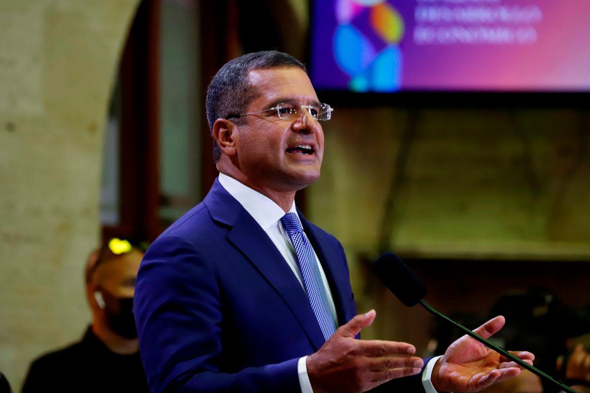 El gobernador de Puerto Rico, Pedro Pierluisi, en una foto de archivo en su primer mensaje público el 18 de este mes.