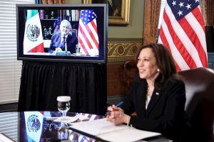 FOTOS: Así fue la reunión virtual de Kamala Harris con AMLO