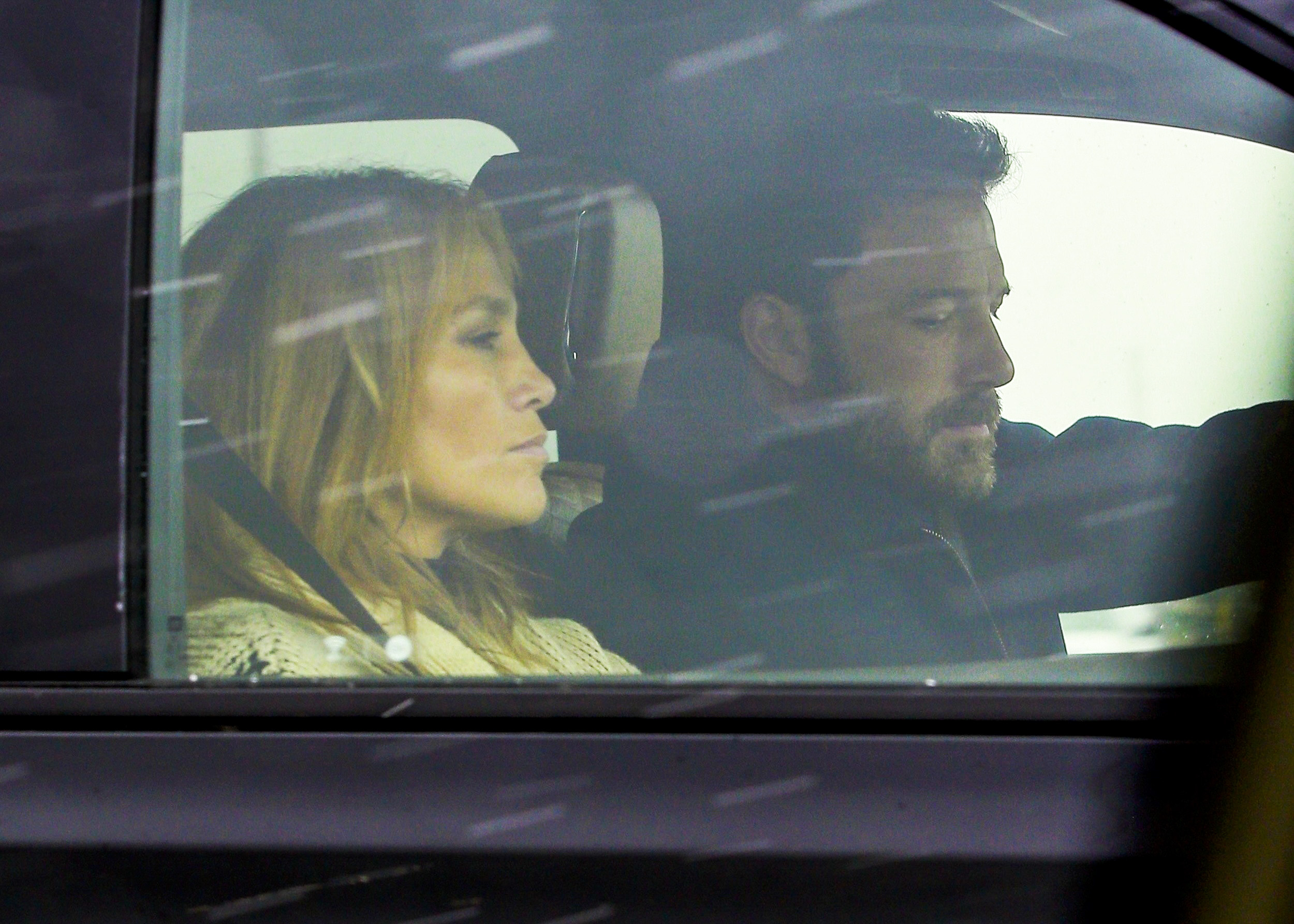 Jennifer Lopez and Ben Affleck were caught on their intimate journey.  / The Grosby Group