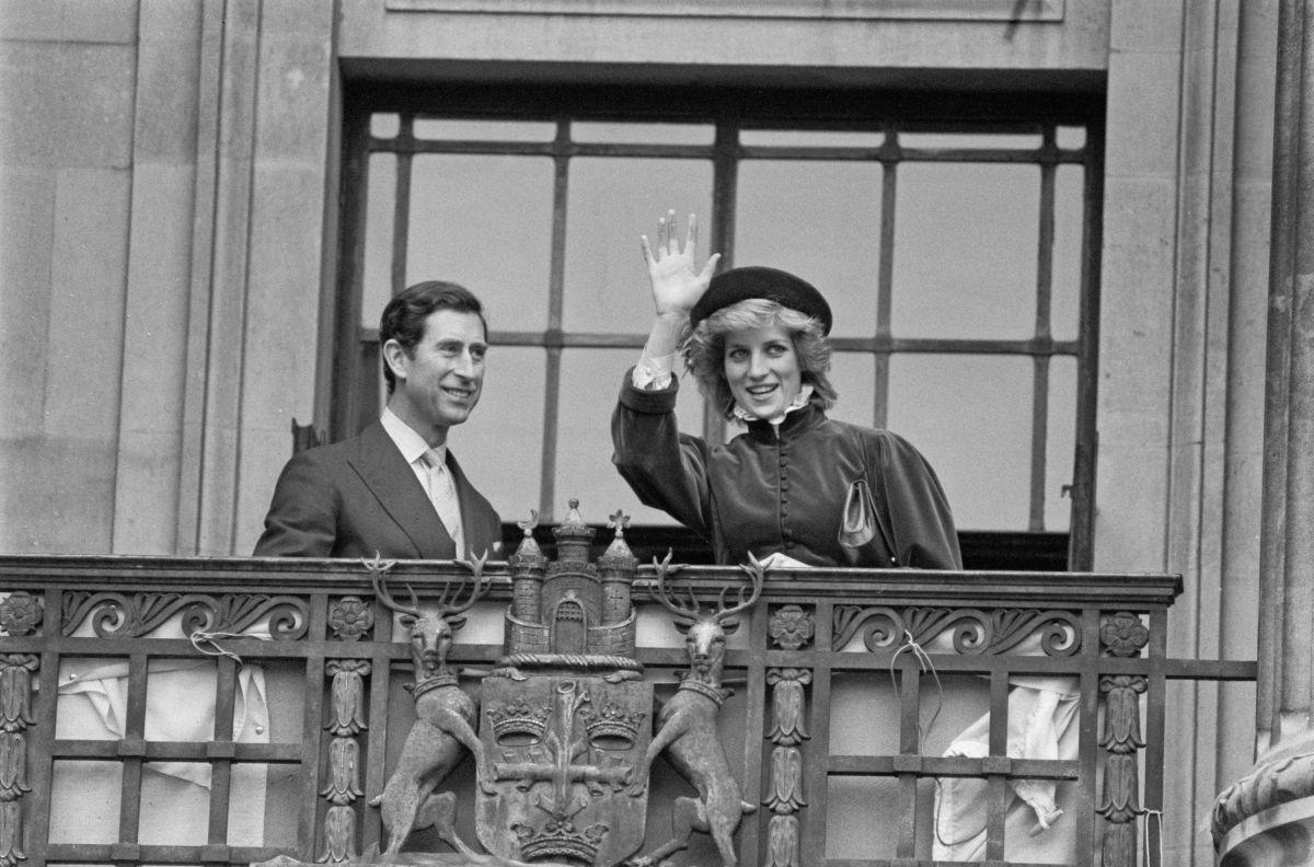 La princesa Diana junto al príncipe Charles.