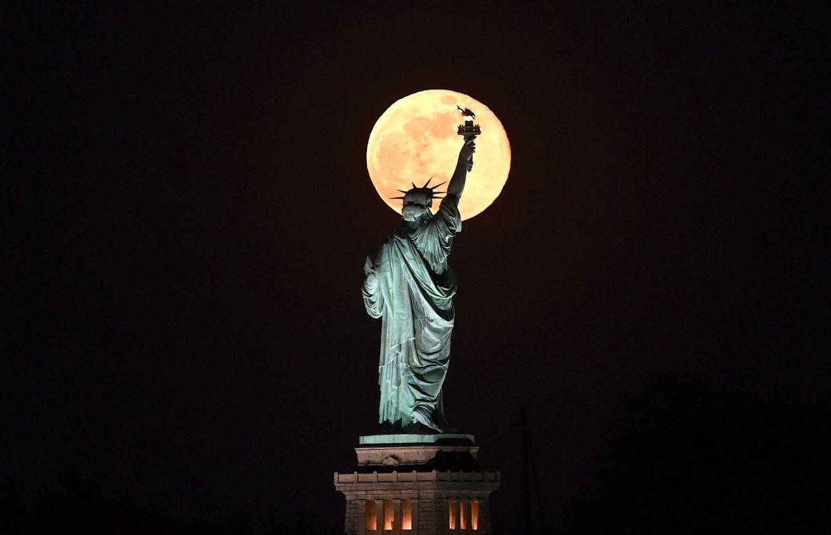 Superluna en Nueva York.