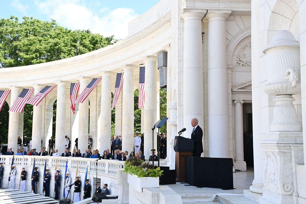 El presidente Biden lideró la ceremonia por el Memorial Day.