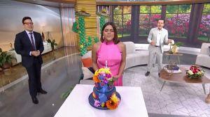 ¡Cuidado! El pastel de cumpleaños de Francisca Lachapel terminó en el piso