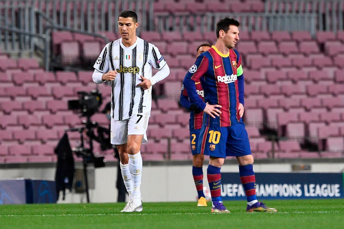 CR7 y Messi se midieron en la UEFA Champions League.