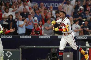 Ronald Acuña Jr. conectó jonrón para dejar tendidos a los Mets y su celebración fue épica