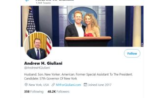 Hijo del ex alcalde Giuliani y asesor de Trump buscará la gobernación de Nueva York
