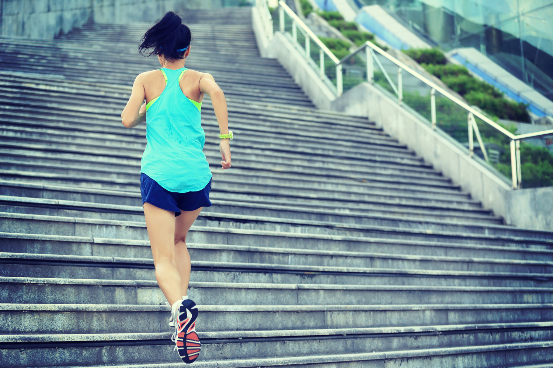 entrenar en escaleras