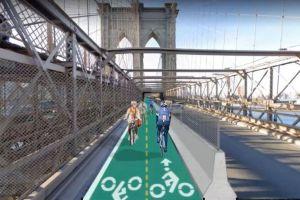 Anuncian inicio de construcción de carriles protegidos para bicicletas en el Puente de Brooklyn