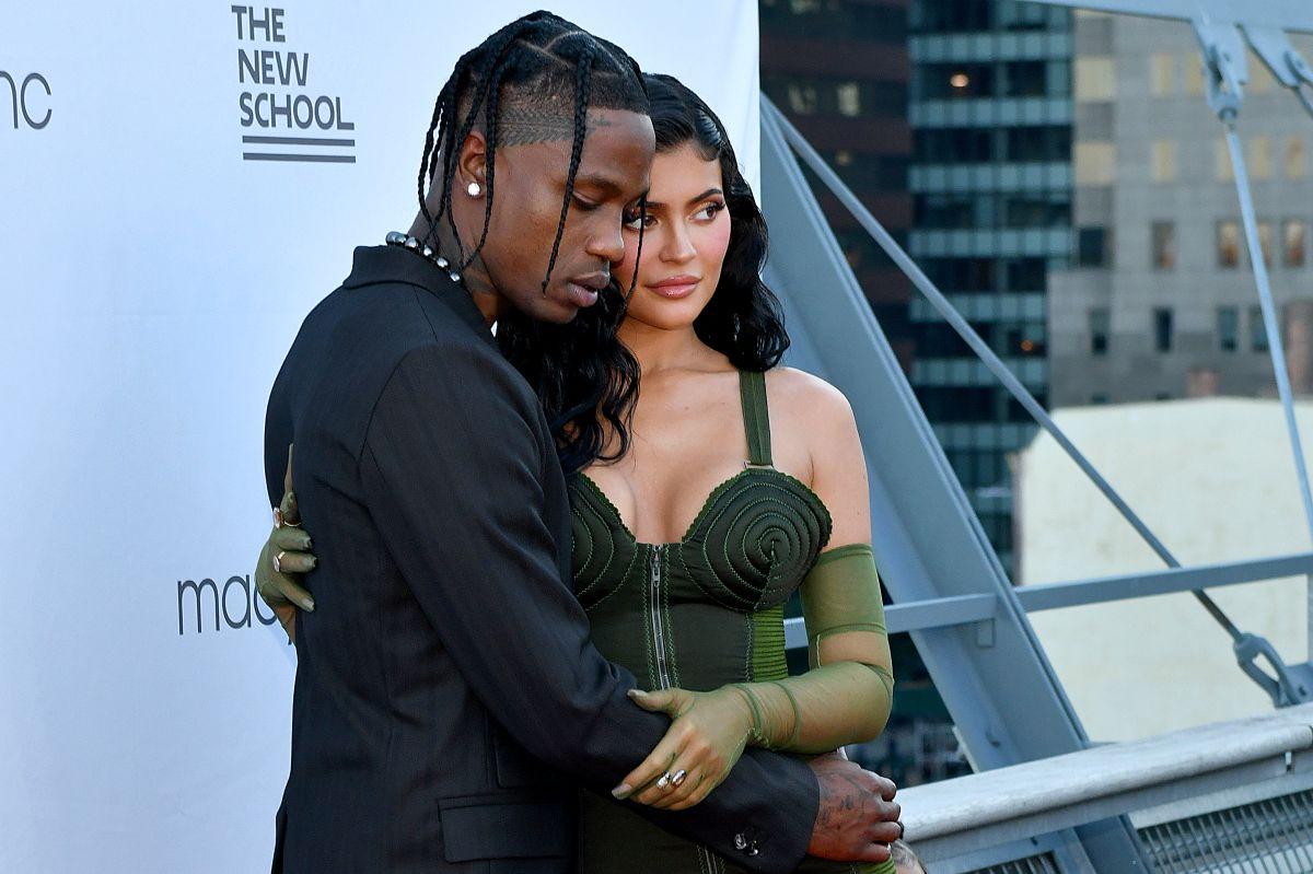 Kylie Jenner y Travis Scott.