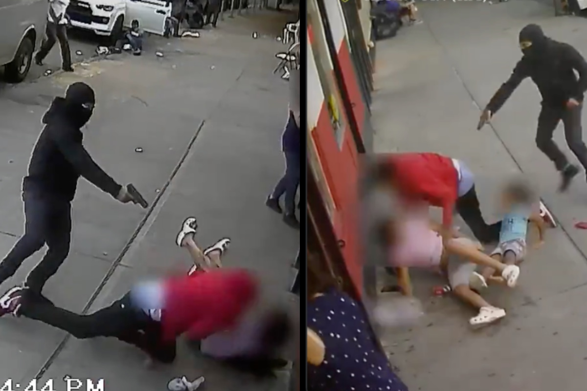 VIDEO: Momento exacto en que sicario dispara a hombre frente a 2 niños en Nueva York