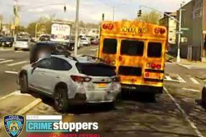 Video captó atropello intencional a conductora de bus escolar al discutir por una luz roja en Nueva York