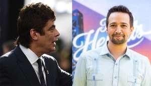"""Benicio del Toro defiende a Lin-Manuel Miranda sobre la ausencia de afrolatinos en In The Heights: """"Vamos a darle un breakecito al hombre"""""""