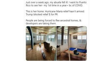 Congresista Ocasio Cortez mostró casa deteriorada de su abuela en Puerto Rico para criticar gestión de Trump tras huracán María