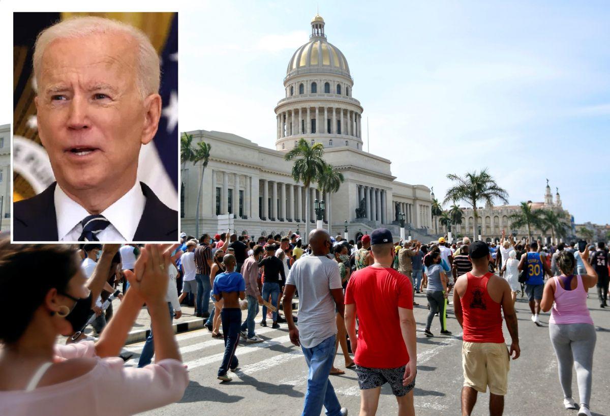 """Biden apoya protestas en Cuba por la """"libertad"""", fin a la """"represión"""" y """"sufrimiento económico"""""""