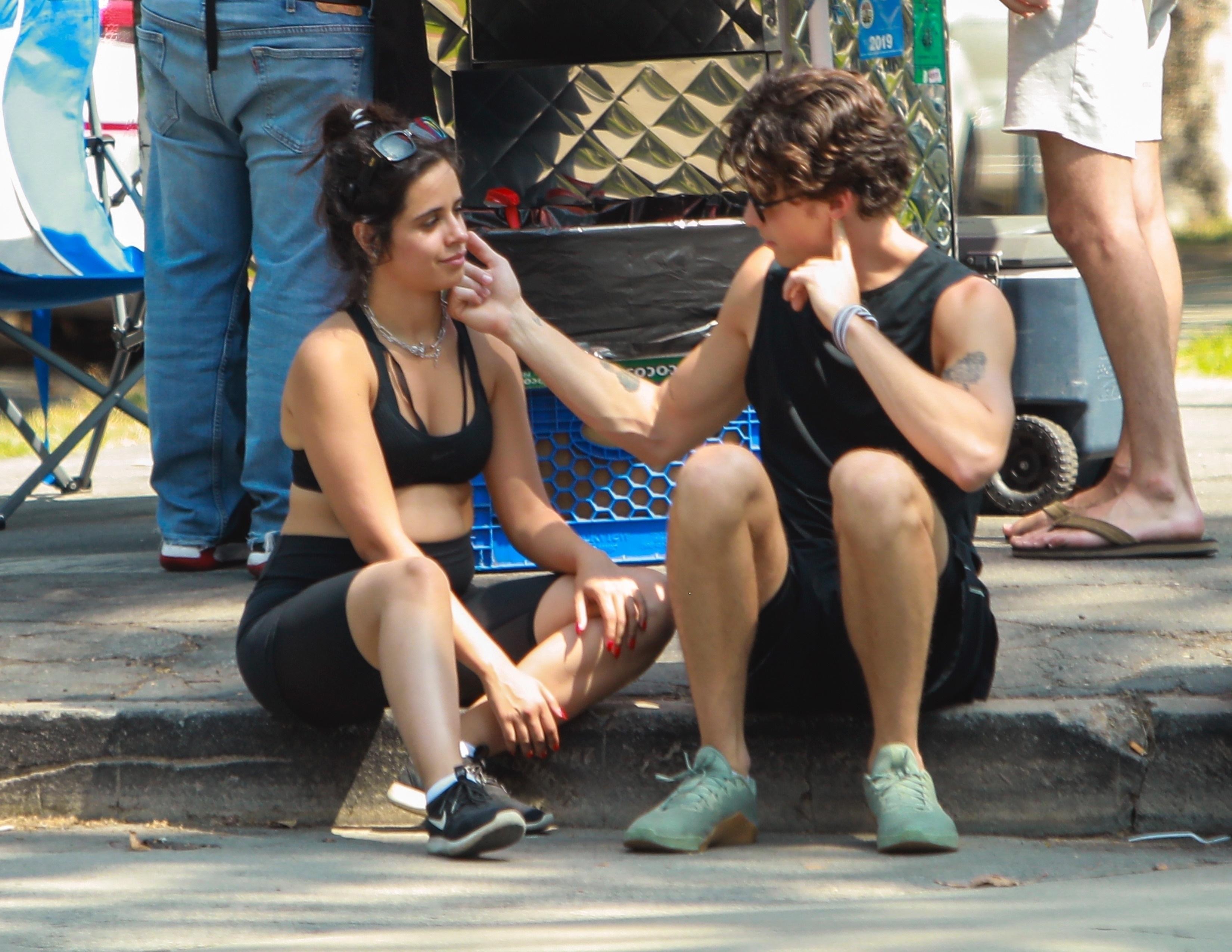 Camila Cabello junto a Shawn Mendes.