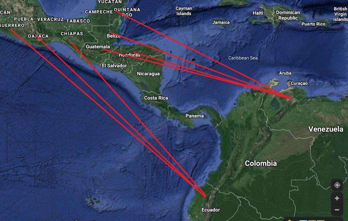 Los cárteles mexicanos tiene distintas rutas de tráfico de drogas.