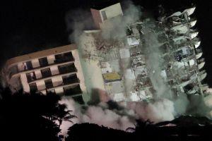 Hallaron tres cuerpos más tras demolición total de Champlain Towers South