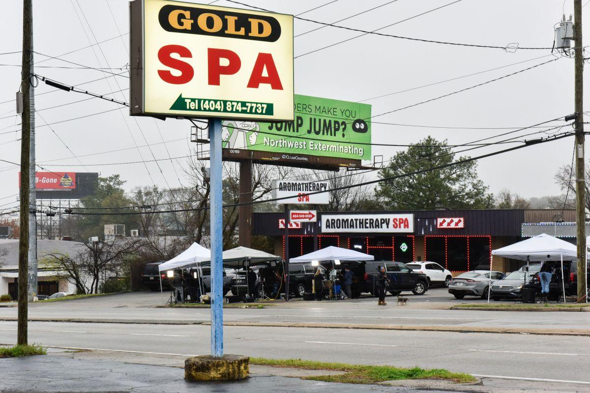 En el Gold Spa, Robert Aaron Long mató a balazos a tres mujeres.