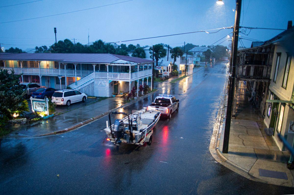 La Tormenta Elsa tocó tierra en Florida el miércoles.