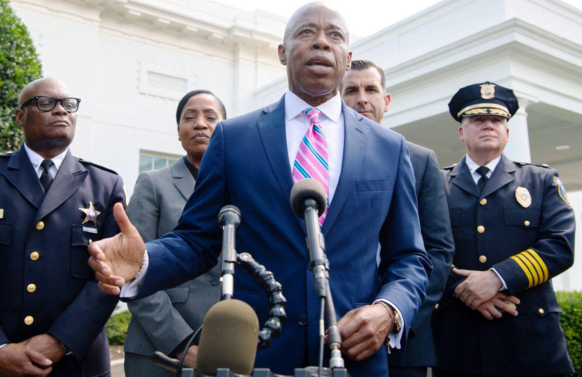 Eric Adams en la Casa Blanca, julio 2021.