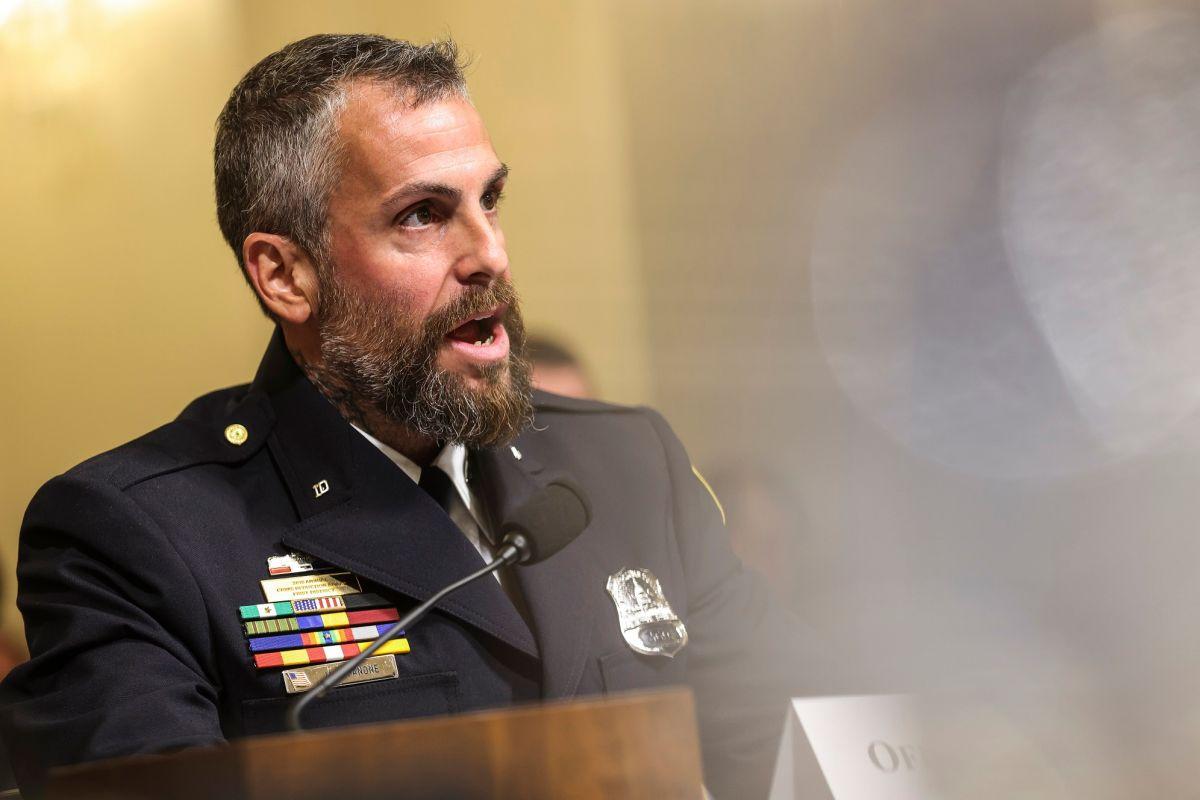 El oficial Fanone rindió testimonio este martes en el Congreso.