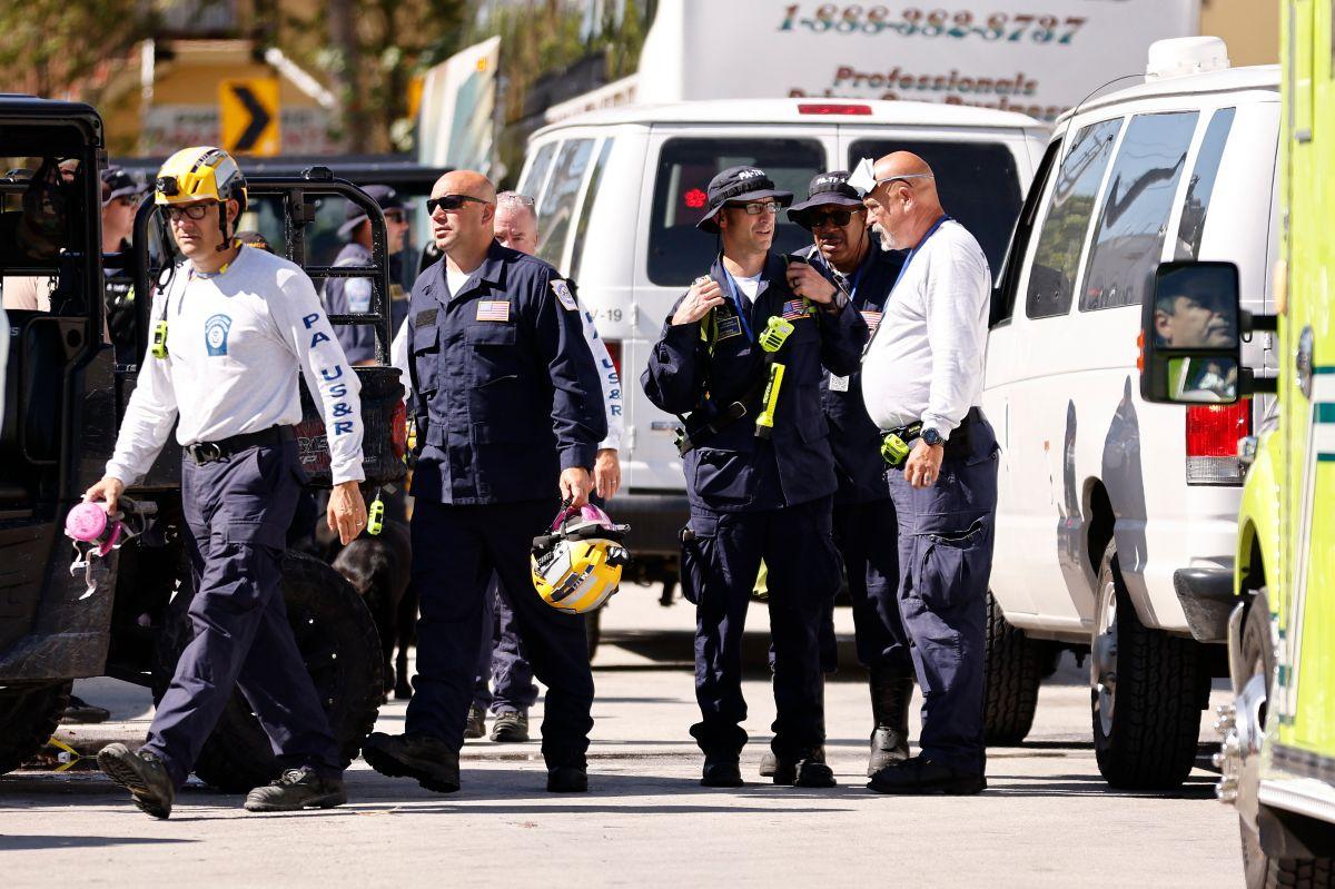 Con los dos cuerpos hallados hoy la cifra de desaparecidos en Champlain Towers South queda en 124.