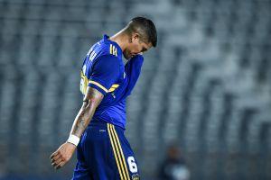 Marcos Rojo desata la barbarie en Brasil: amenazó con lanzarle un extintor a sus rivales tras la eliminación de Boca Juniors de la Copa Libertadores [Video]
