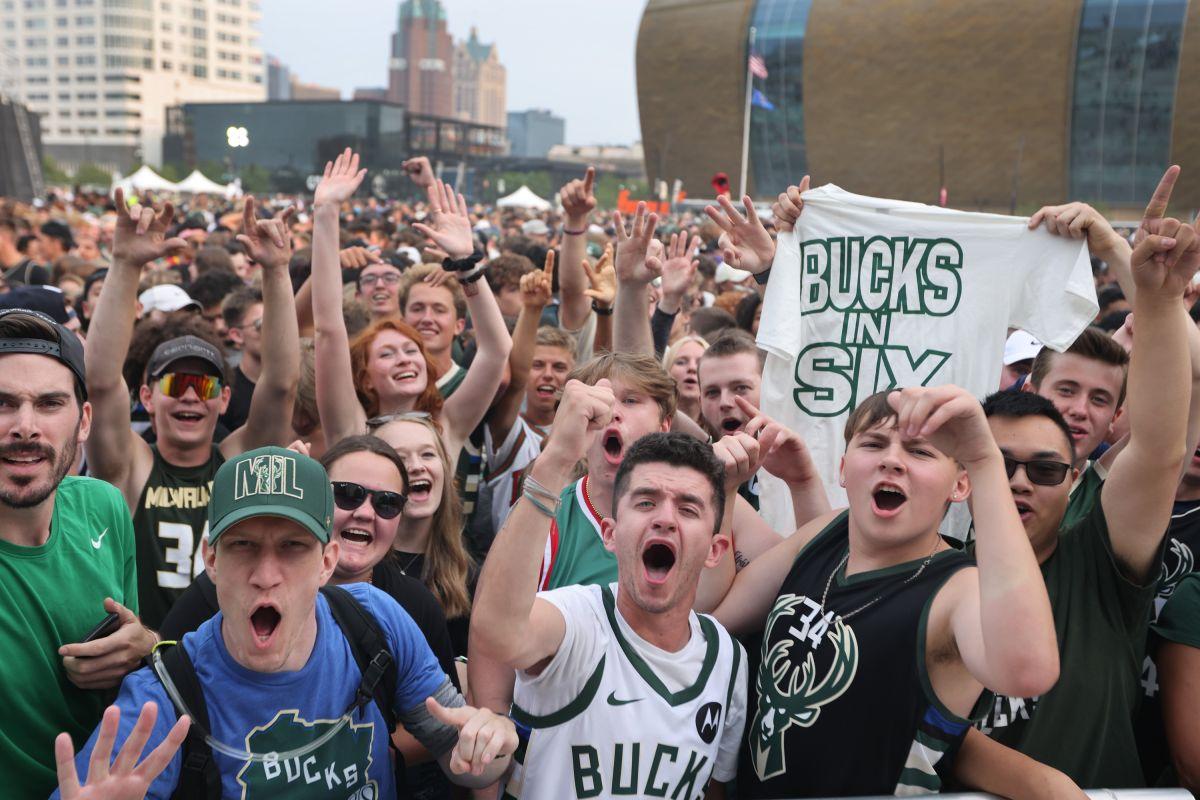 Milwaukee y su noche más especial en el deporte: más de 65,000 fanáticos celebraron el título de la NBA a las afueras del Fiserv Forum