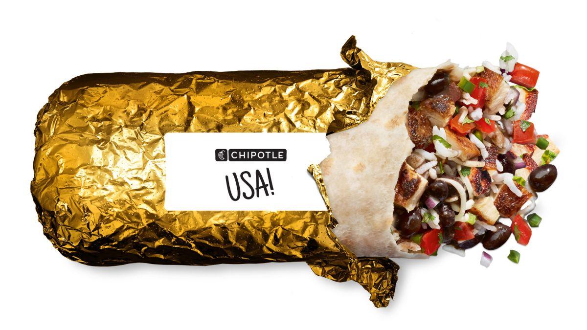 Juegos Olímpicos de Tokio 2021: Chipotle rinde tributo a los atletas estadounidenses con burritos con envolturas doradas