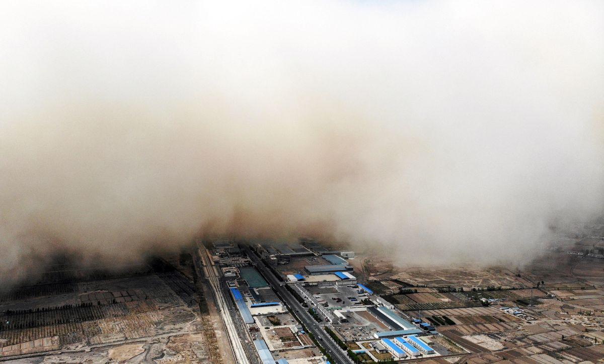 En China son comunes las tormentas de arena.