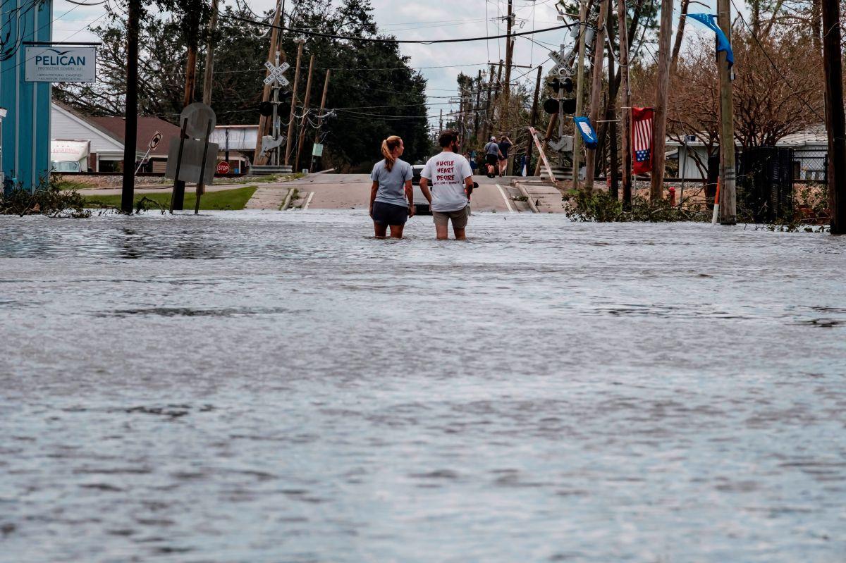 Un territorio inundado en Narco, Louisiana como resultado del paso del huracán Ida.