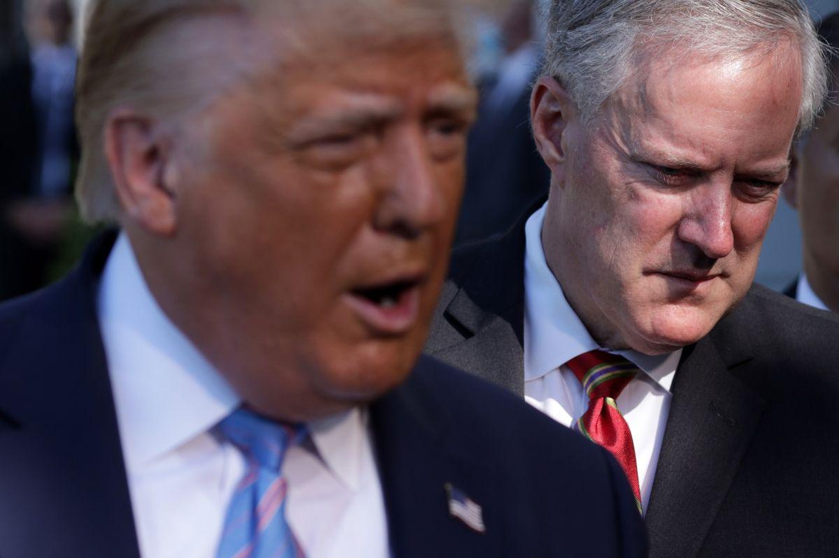 """Mark Meadows afirmó que el """"presidente"""" Trump ha tenido reuniones con su """"gabinete""""."""