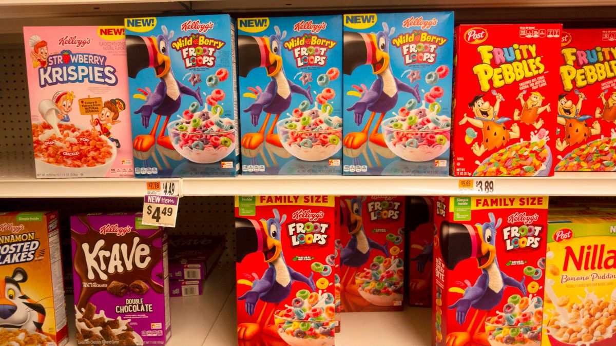 Algunas cajas de cereales de tamaño familiar ahora son un poco más pequeñas.