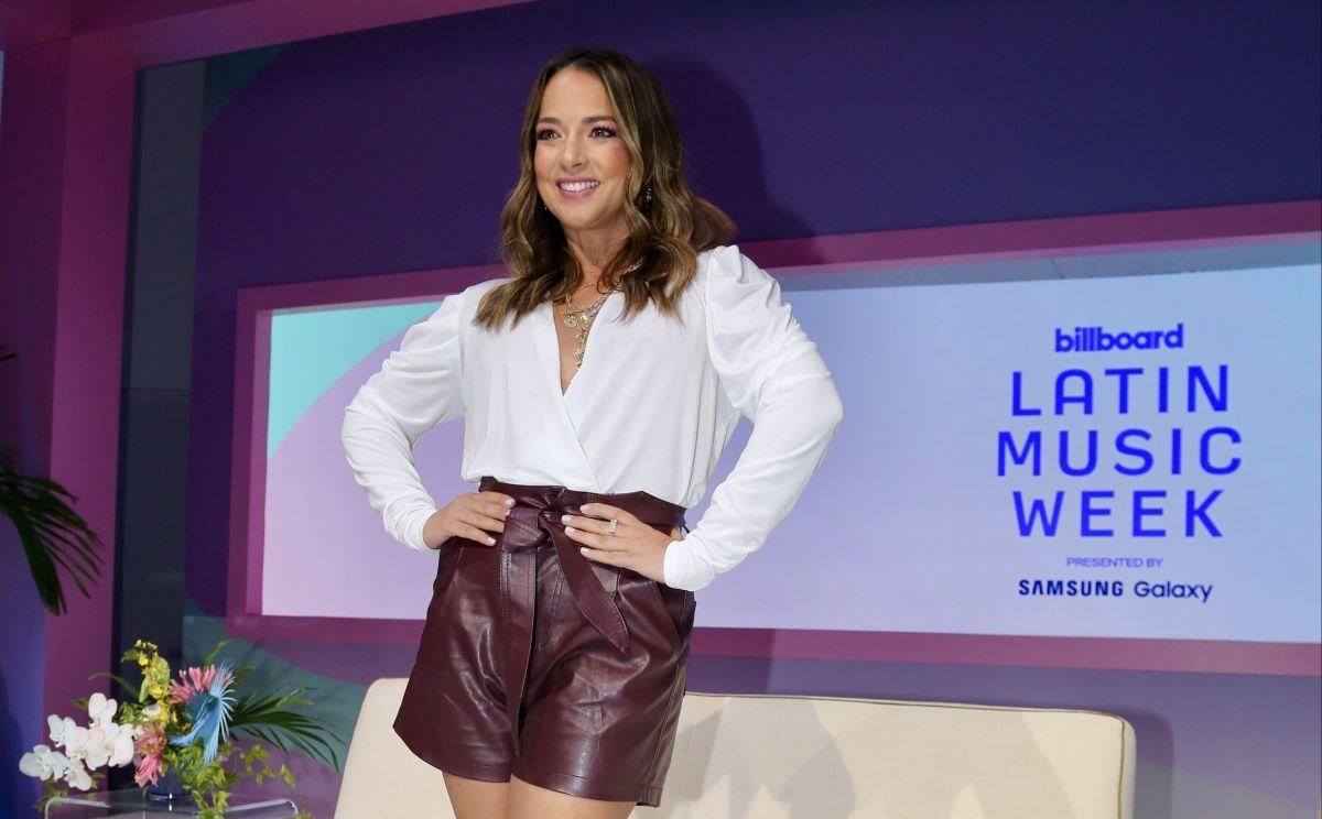 Adamari López en la primera jornada de los Latin Billboard.