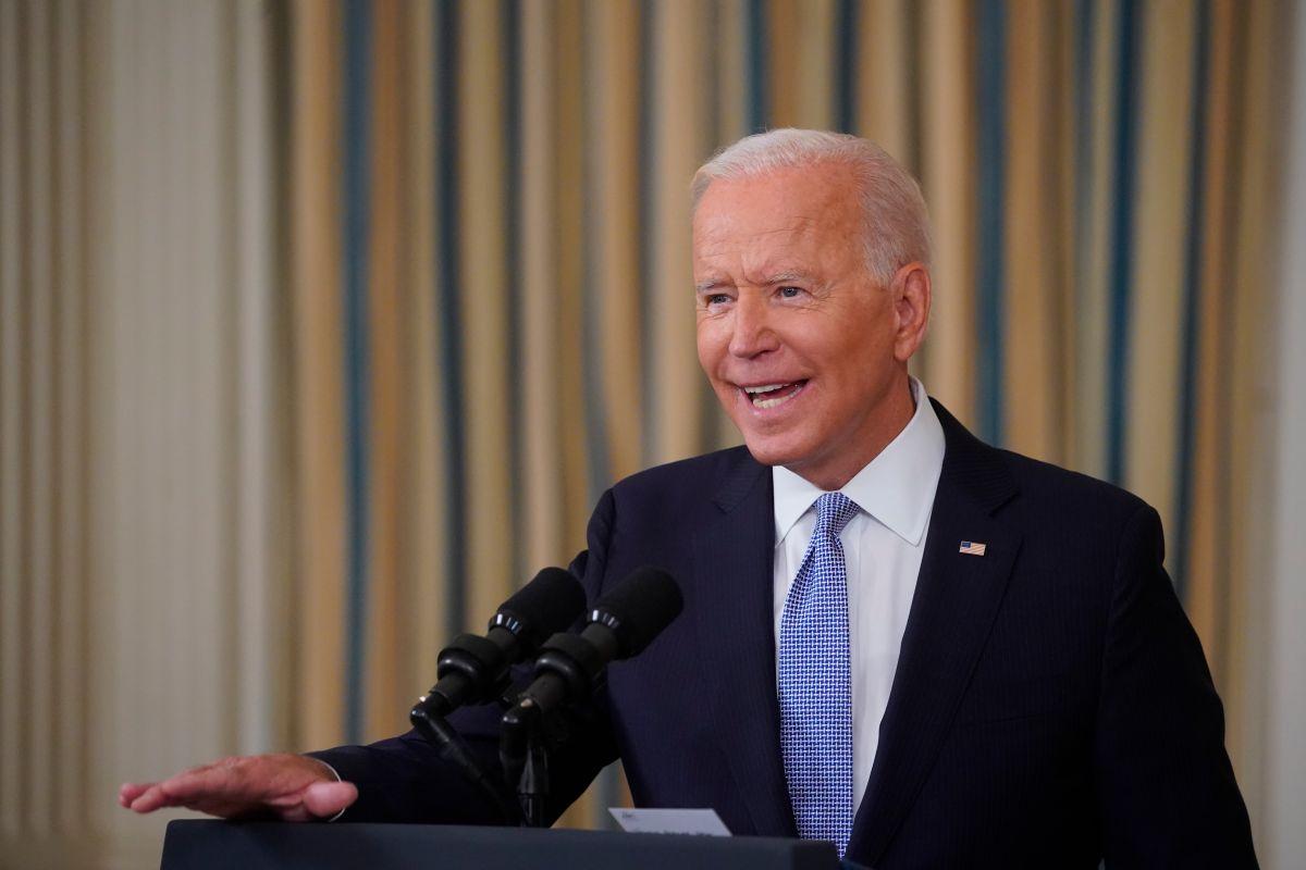 El presidente de Estados Unidos, Joe Biden, en una conferencia este viernes sobre las dosis de refuerzo de la vacuna de Pfizer contra la COVID-19.