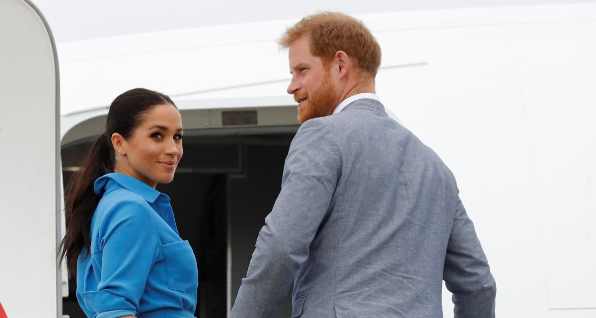 Meghan Markle junto a su príncipe Harry.