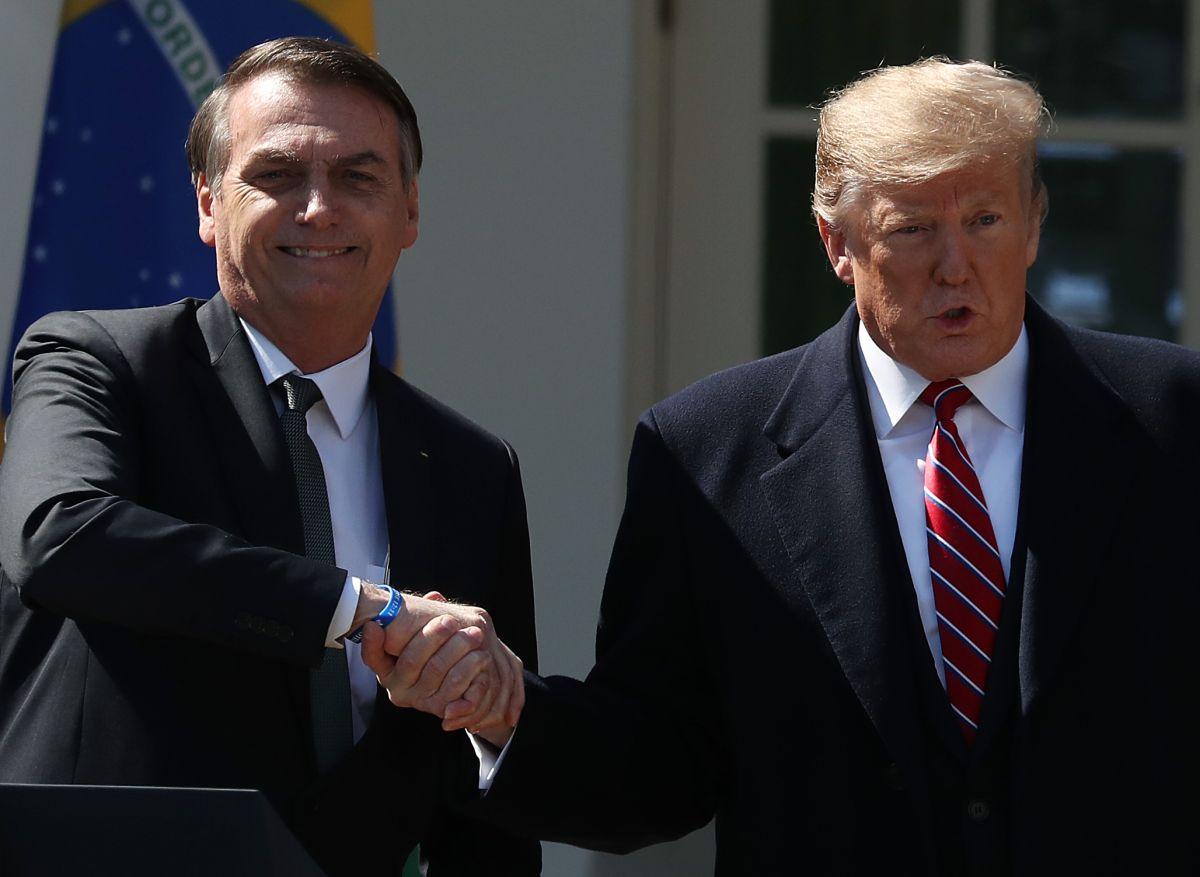 Presidente Donald Trump y el presidente de Brasil, Jair Bolsonaro