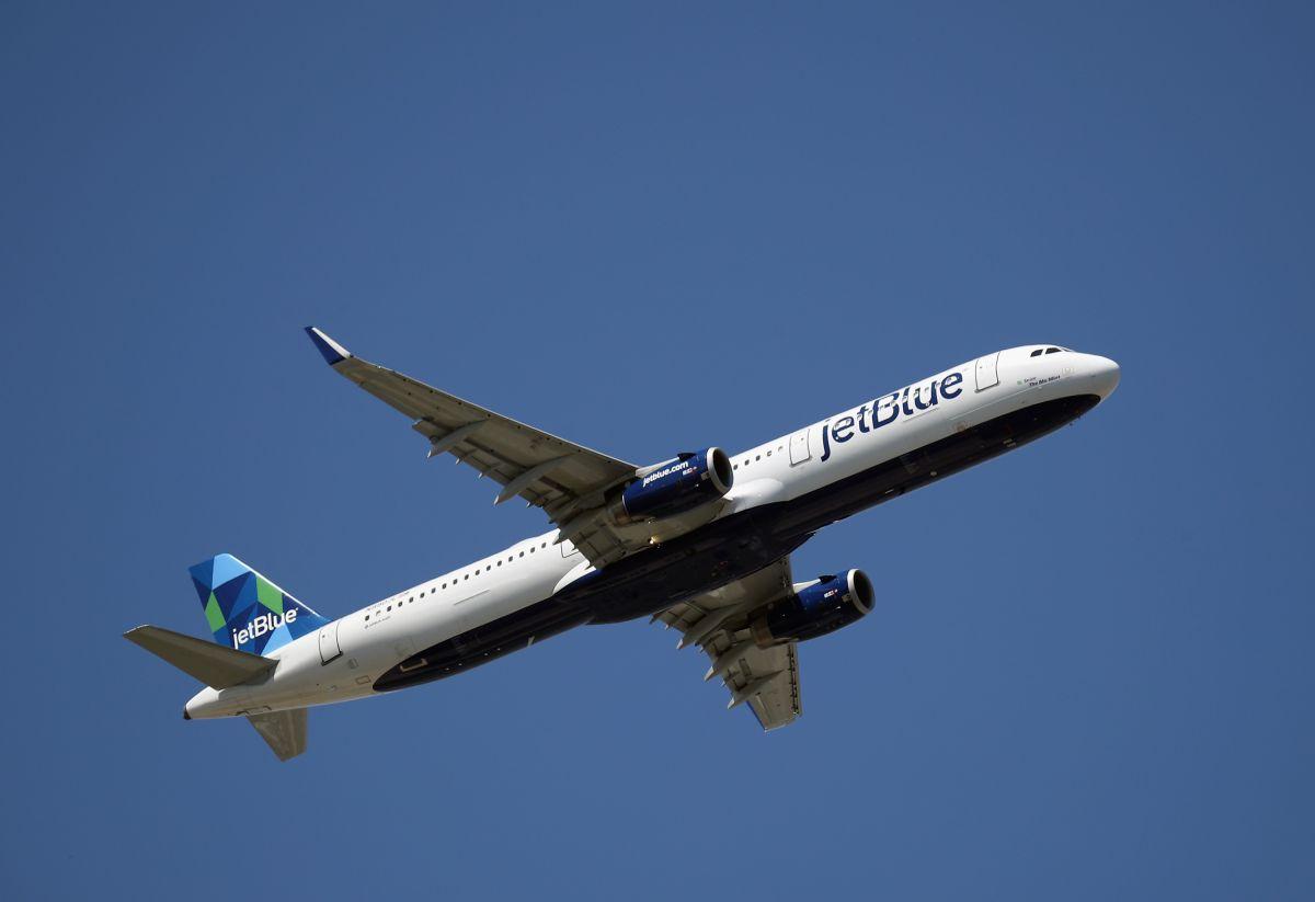 El hombre fue arrestado cuando el avión aterrizó en Puerto Rico.