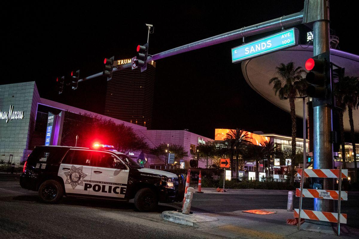 Una patrulla de la policía de Las Vegas.
