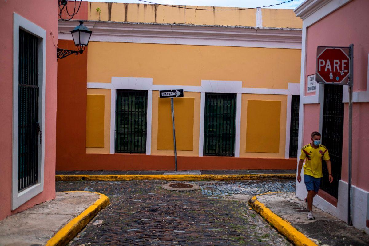 Una calle en el Viejo San Juan, en la capital puertorriqueña.
